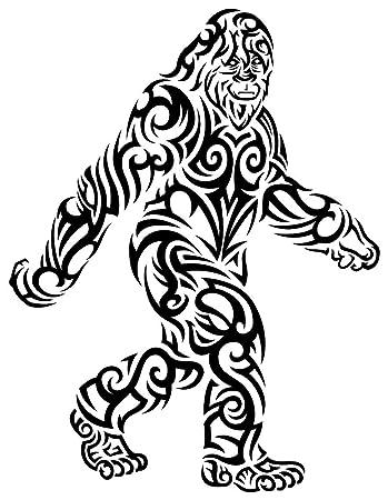 Amazon com: Tribal Bigfoot Sticker - Die-Cut, Vinyl