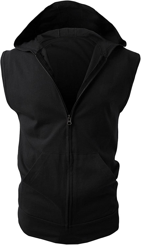 M/änner Tank Top /Ärmellos Shirt aus 10/% Bambusfaser+80/% Baumwolle+10/% Polyester SHTH Herren Fitness Achselshirts mit Kapuze