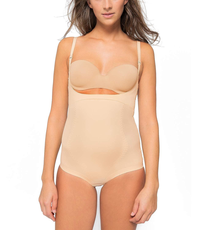 Kasheer ShapeBody | Shapewear Damen Figurformender Bauchweg Body | Unterwä sche Bodysuit | Tiefer Ausschnitt fü r eigenen BH