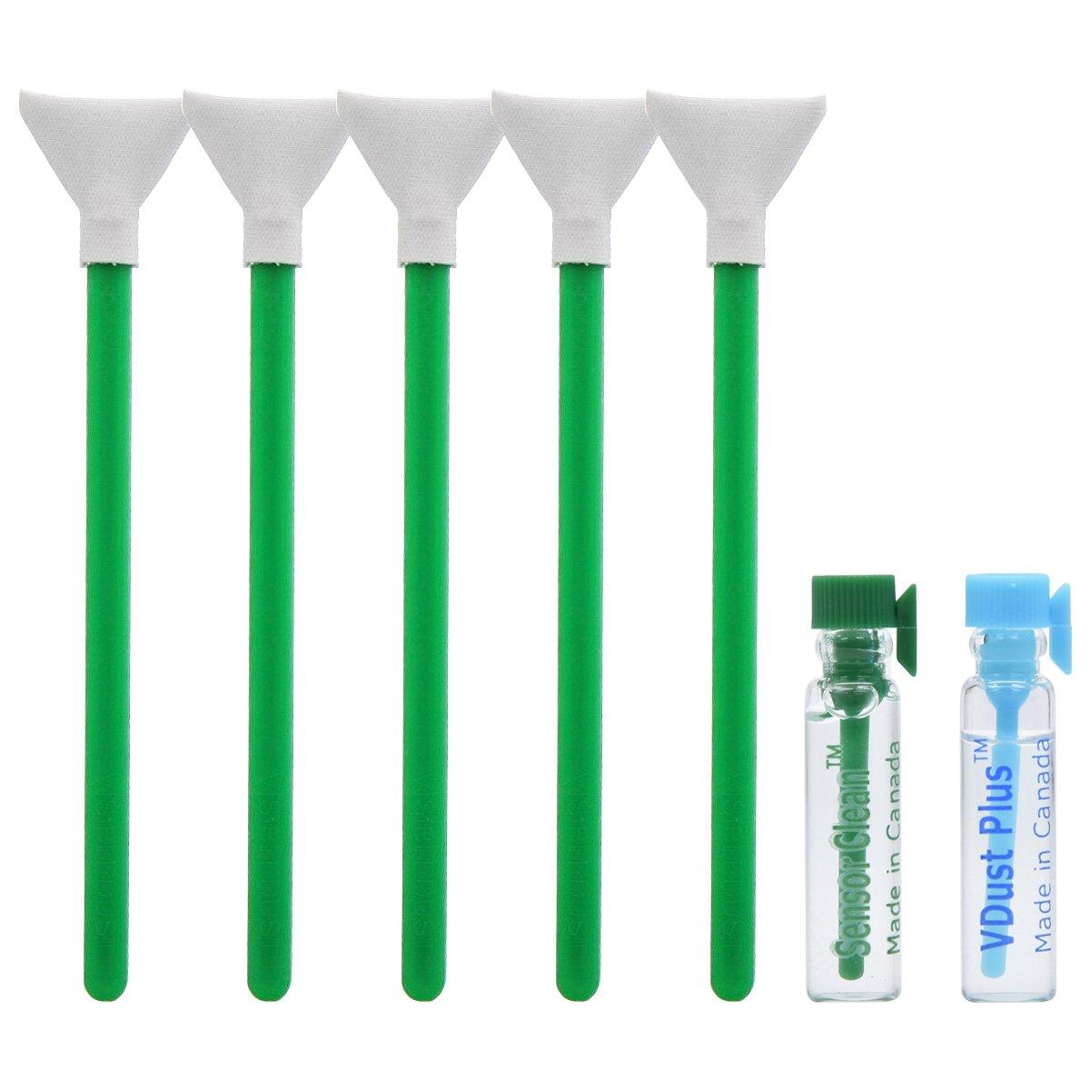 VisibleDust EZ Sensor Dual Power-X Cleaning Kit (Regular Strength) for Size 1.3x (20mm) DSLR & Micro 4/3 Cameras with 1ml Liquid vDust Plus, 1ml Liquid Sensor Clean & 5 Vswabs by VisibleDust (Image #1)