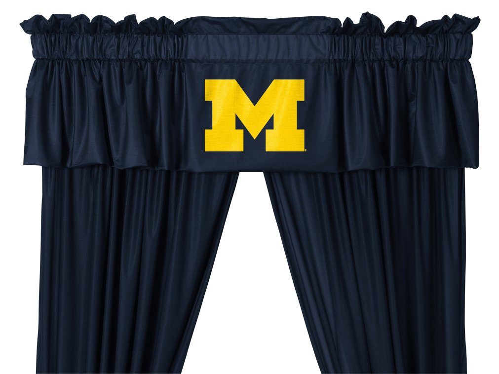 Michigan Wolverines QUEEN Size 14 Pc Bedding Set (Comforter, Sheet Set, 2 Pillow Cases, 2 Shams, Bedskirt, Valance/Drape Set - 84 inch Length & Matching Wall Hanging) - SAVE BIG ON BUNDLING! by Sports Coverage