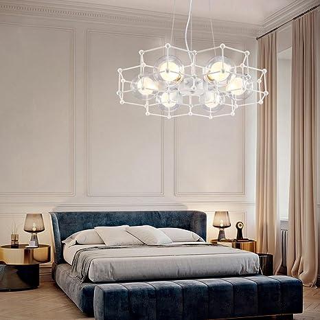 Diseño moderno Lámpara colgante blanco redondo Hierro Hollow ...
