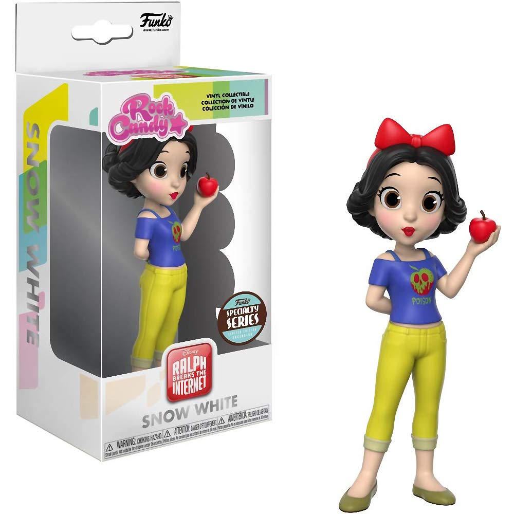 : Comfy Princess x Rock Candy Vinyl Figure 32453 Specialty Series Funko Snow White 1 Classic Disney Trading Card Bundle