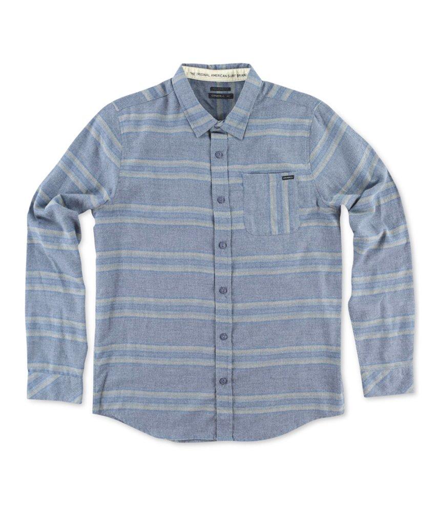 O'Neill Men's Radius Long Sleeve Woven, Dark Blue, Small