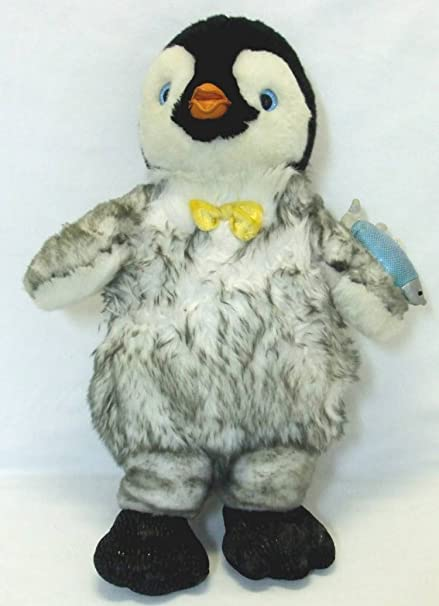 eca91f4ada6 Amazon.com  Build a Bear Stuffed Happy Feet Mumble with Glowing ...
