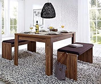 Bellatrix 6 Esstisch Set Sitzbank Esszimmer Kuchentisch Akazie