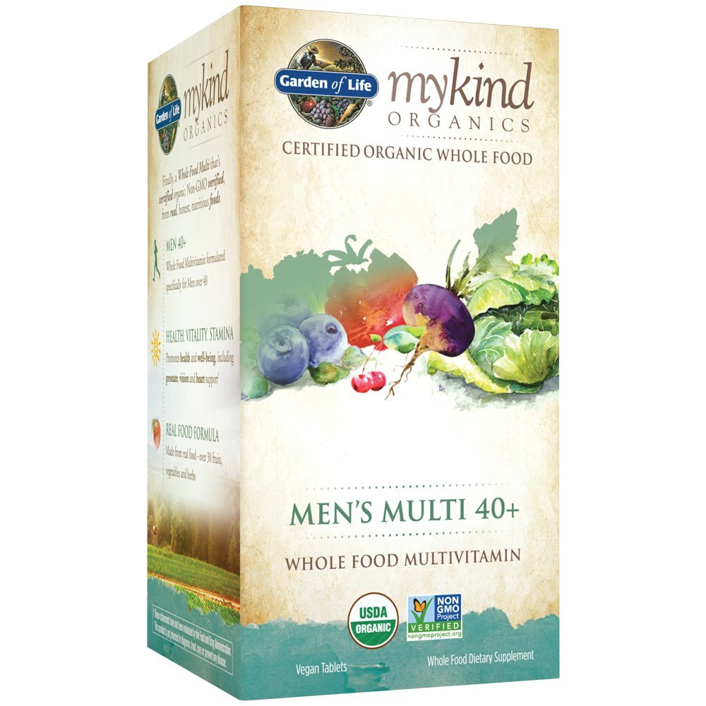 Garden of Life Multivitamin for Men - mykind Organic Men's 40+ Whole Food Vitamin Supplement, Vegan, 120 Tablets by Garden of Life