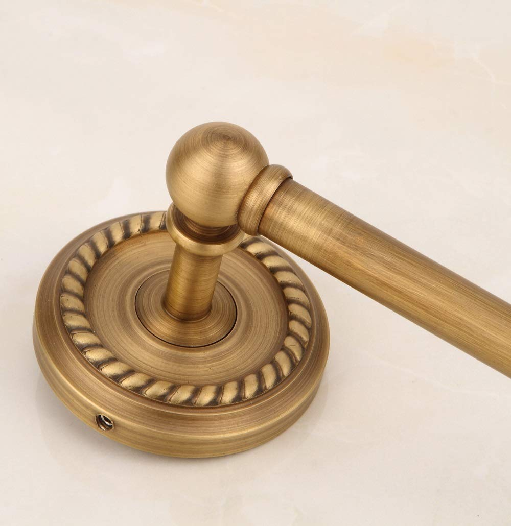 Nwn Barra de tocador de la torcedura Antigua de Cobre Amarillo Europea, style1: Amazon.es: Hogar