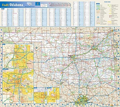 Globe Turner Oklahoma State Wall Map - 20.75