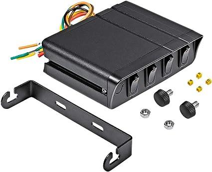 Fauge Nueva Caja de Interruptor Basculante 40a Negra Luz EstroboscóPica de Emergencia Panel de Control de Palanca de 4 Pandillas 12V 12 V: Amazon.es: Coche y moto