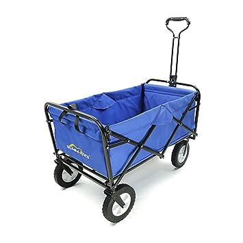 folding garden cart. Summates Collapsible Folding Utility Wagon,Garden Cart,outdoor,shopping (Blue) Garden Cart D