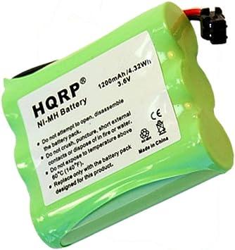 HQRP Batería para Panasonic P-P504/HHR-P501/PQWBTC1461M Teléfono inalámbrico + HQRP Posavasos: Amazon.es: Electrónica