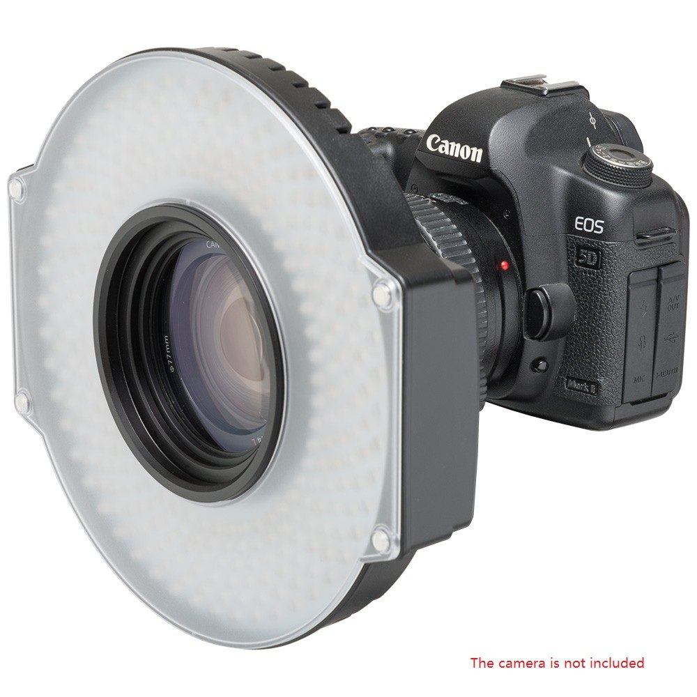 F&V R-300 SE 5600K Daylight LED Ring Light Dimmable Video Light CRI 95+ with Lens Mount and Carrying Case 19.7W