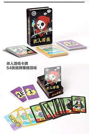 gengyouyuan Juegos de Cartas Verdad o Dare Card Hombre Lobo Juego Casual Fiesta encubierta Jugando Cartas: Amazon.es: Juguetes y juegos