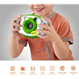 AMKOV Mini Cámara Digital Infantiles Cámara Mini de Juguetes para Niños Accesorios Electrónicos para Hacer Fotos Regalo Creativo para Fiestas