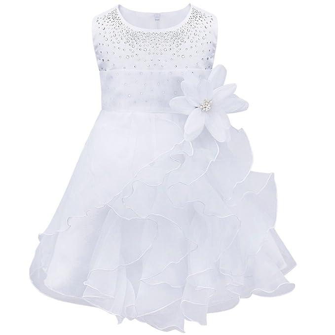 Freebily Vestido de Princesa Bautizo Comunión Ceremonia Fiesta Fotografía para Bebé Niña Regalo para Recién Nacido