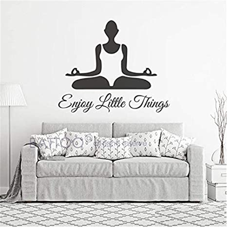 pegatinas de pared tortugas ninja Yoga Wall Decal- Yoga ...