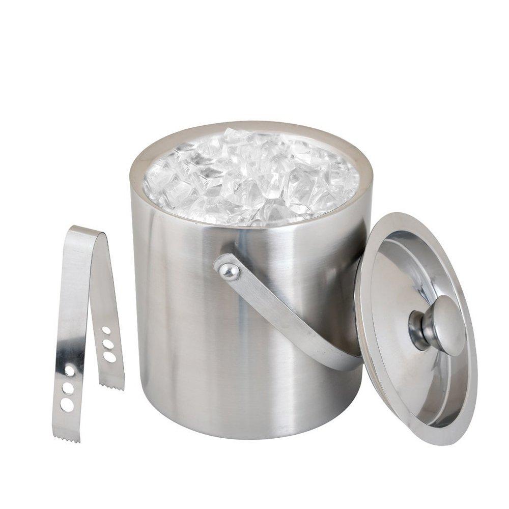 Kosma Stainless Steel Double Wall Ice Bucket with Tongs | Ice Cube Bucket - 18 x 15 cm by Kosma (Image #5)