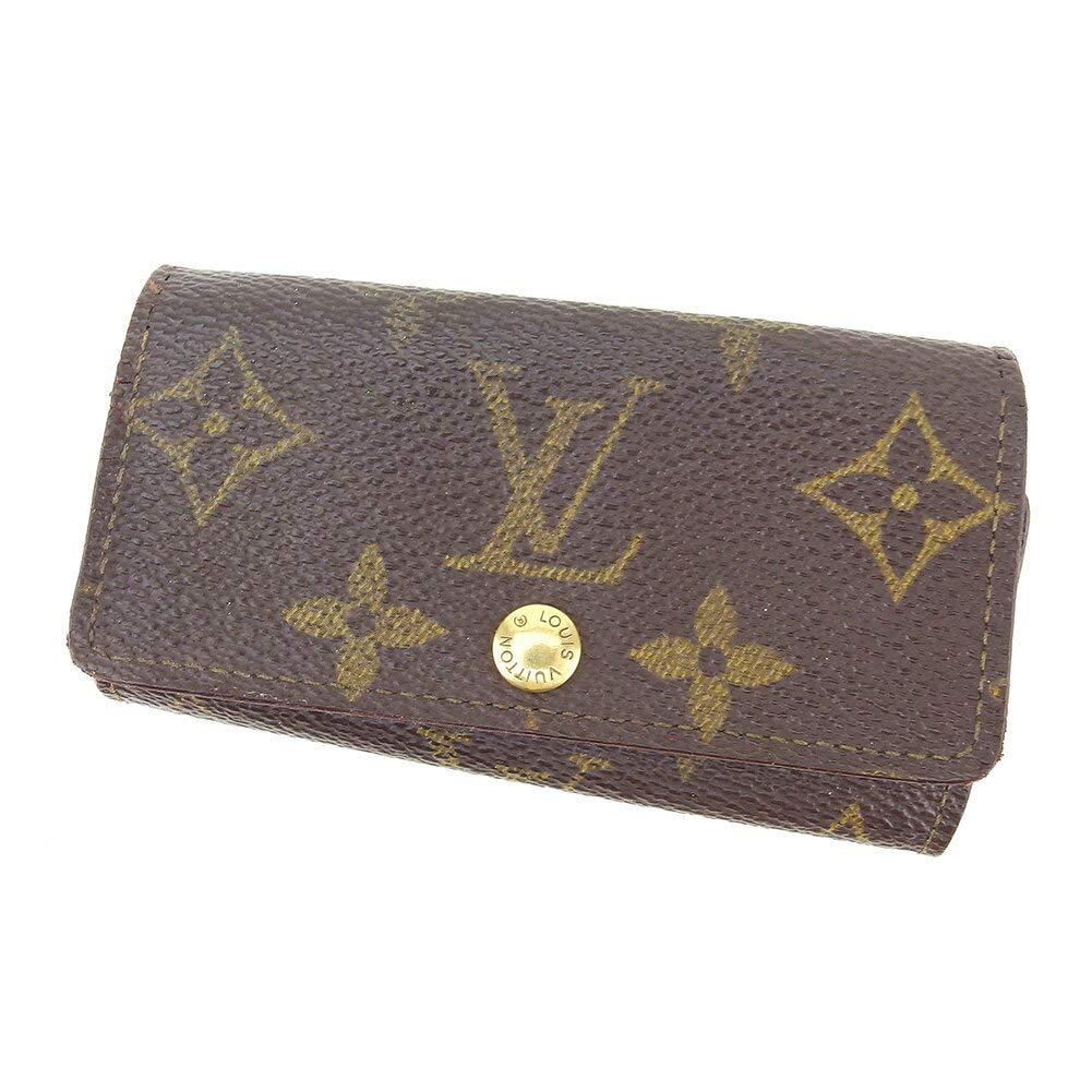 (ルイ ヴィトン) Louis Vuitton キーケース 4連キーケース ブラウン ミュルティクレ4 モノグラム レディース メンズ 中古 C3493   B07JCVT569