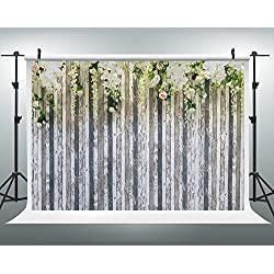 Maijoeyy 7x5ft Photography Backdrops White Light Color Flower Photo Booth Props Wood Floor Studio Props Backdrop Wedding Backdrop Flower Decoration Backdrops 721282186