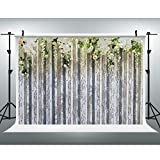 Maijoeyy 7x5ft Photography Backdrops White Flower Photo Booth Props Wood Floor Studio Props Backdrop Wedding Backdrop Flower Photo Booth Backdrop 721282186