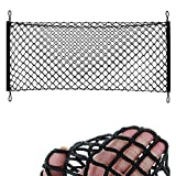 #6: MAXTUF Cargo Net 23.6''x47.2'' to 23.6''x70.8'' Elastic Nylon Mesh Universial Rear Heavy Duty Car Organizer Net with 4 Hooks for SUV Pickup Truck Bed Rooftop Travel Luggage Rack