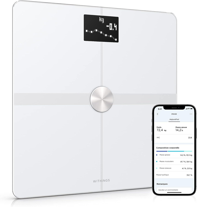 Withings Body+ - Balance Connectée WIFI et Bluetooth avec Analyse de la...