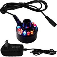 PULACO Mist Maker, Indoor Fountain Mister Foggers, Small Pond Fog Machine Atomizer Air Humidifier Perfect for Water…
