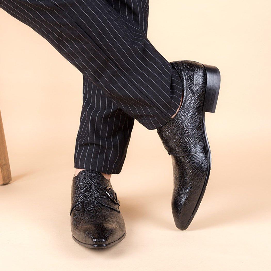 GAOLIXIA Männer echtes Leder Business Schuhe wies Abend Arbeitsschuhe Kleid Schuhe Freizeitschuhe Hochzeit Abend wies Größe d28053