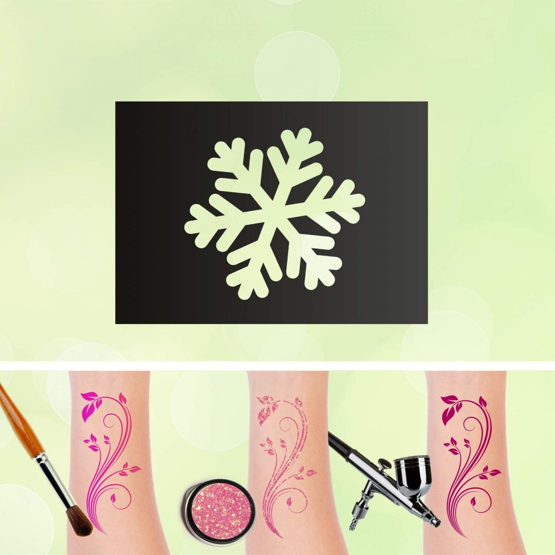 Tattoo Plantillas Copo de nieve auto-adhesivos kinders chminken ...