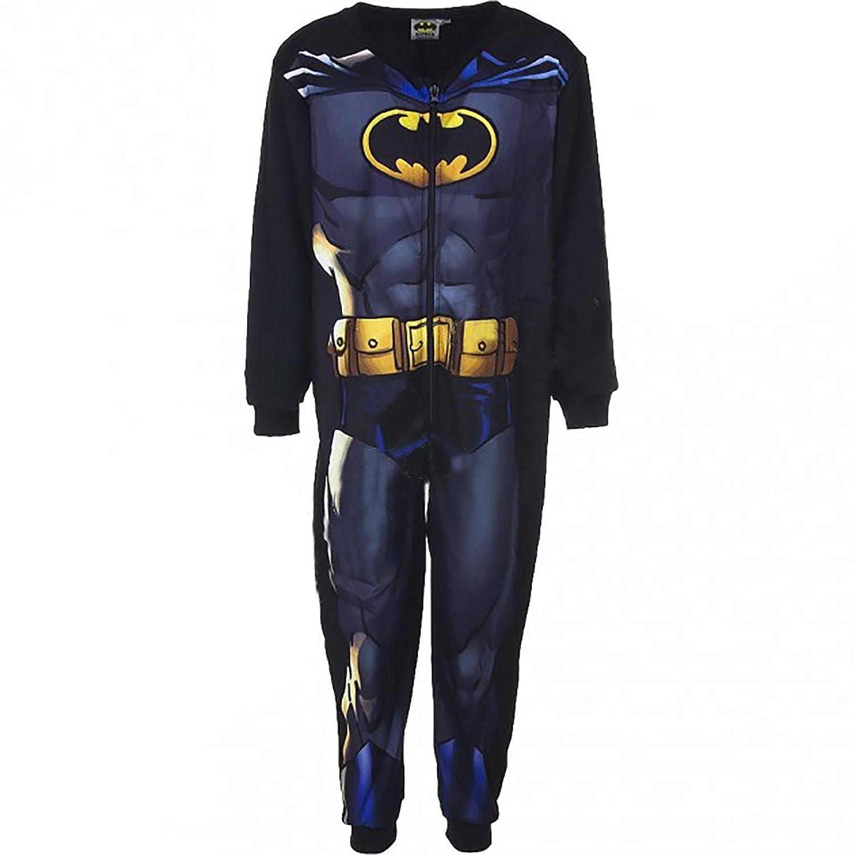 Tuta Pigiama Batman in Pile Mis. 3 4 5 6 7 8 Anni Caldo per l'inverno