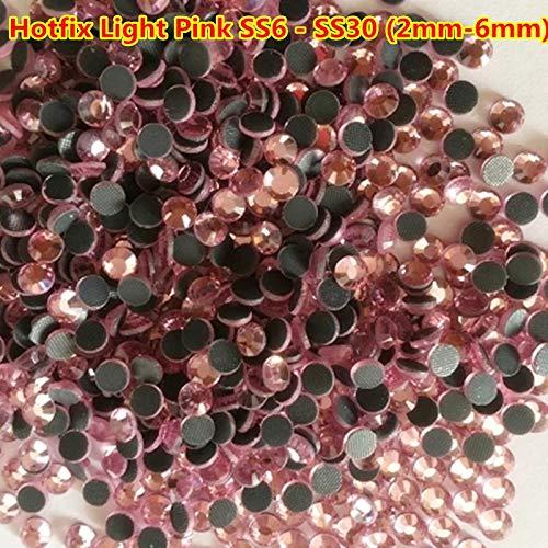 Kamas 1440pcs ss6 ss10 ss16 ss20 Light Pink/Rose Pink DMC Hotifx Pink Rhinestones Nail Strass 3mm 4mm 6mm Nail Art Rhinestones 2mm - (Color: Rose Pink ss20)
