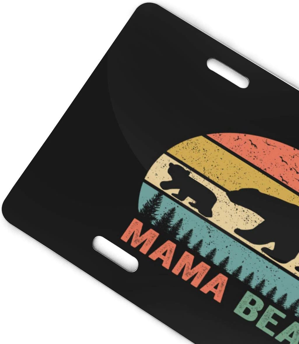 Front License Plate 6 X 12 Inch YiiHaanBuy Mama Bear License Plate,Mama Bear License Plate Frame,Mama Bear Car Tag,Mama Bear Car Accessories,Aluminum License Plate 4 Holes