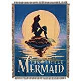 "Disney's The Little Mermaid,Poster Woven Tapestry Throw Blanket, 48"" x 60"", Multi Color"