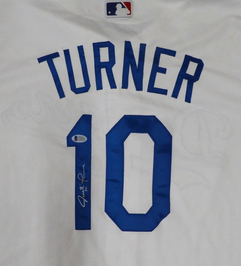 new concept 13d6c 48ab0 Los Angeles Dodgers Justin Turner Autographed White Majestic ...
