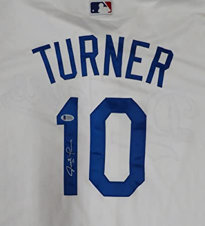 new concept def09 df9e6 Los Angeles Dodgers Justin Turner Autographed White Majestic ...