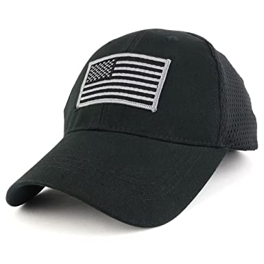 USA American Flag Subdued GREY Embroidered Tactical Patch with Mesh  Operator Cap - BLACK c8e38bf97a95