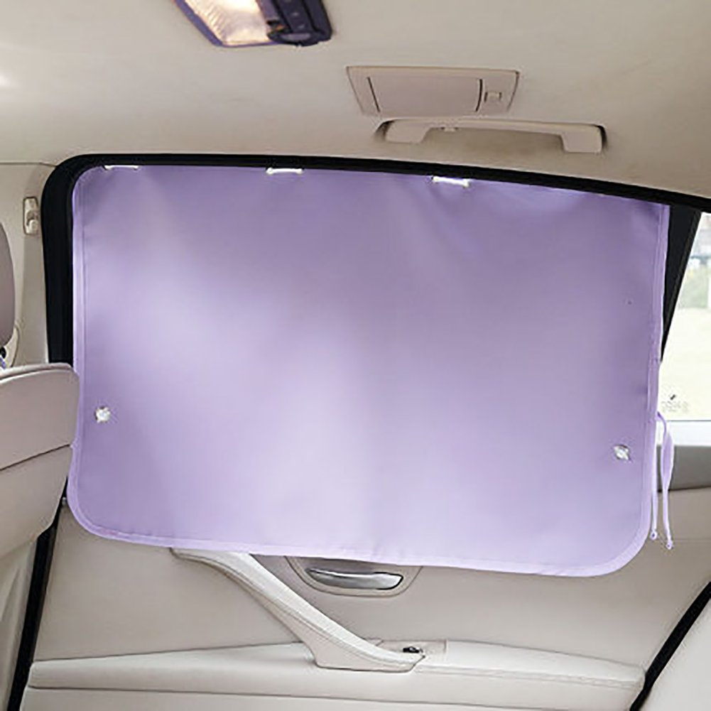 Folding Sunshades Car Sunshade Sunscreen Blackout Curtain Window Rear Blocking Suction Cup Telescopic Universal Easy Installation Provides Maximum UV Protection Protecting Privacy In The Car