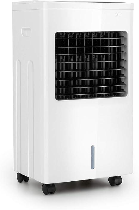 Oneconcept Freeze Me - Enfriador de Aire 3 en 1, Ventilador, Humidificador de Aire, 75 W, Caudal de 400 m³/h, 3 Tipos de Viento, Depósito de Agua de 8 L, Función NatureWind