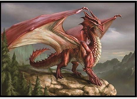 Dragon Full Drill DIY 5D Diamond Painting Cross Stitch Kits Home Decor Dinosaur
