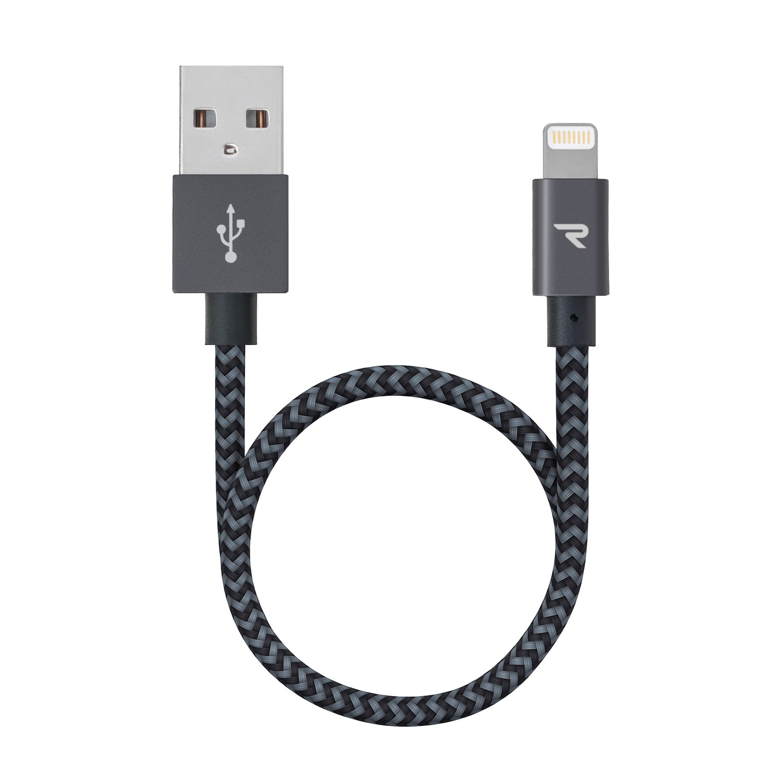 Rampow Cable Lightning Cargador iPhone Nylon trenzado-[Apple MFi Certificado]-Garantía de