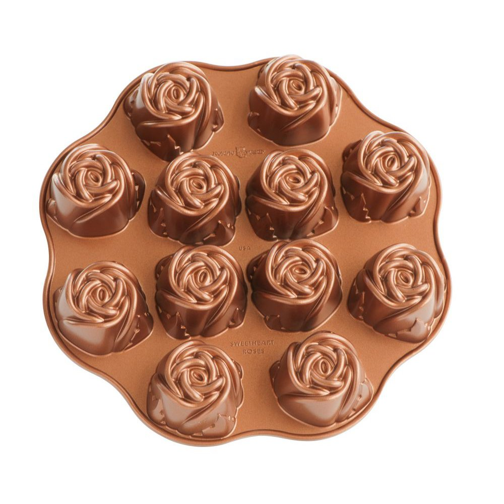 Nordic Ware Nonstick Sweetheart Rose Baking Pan by Nordic Ware