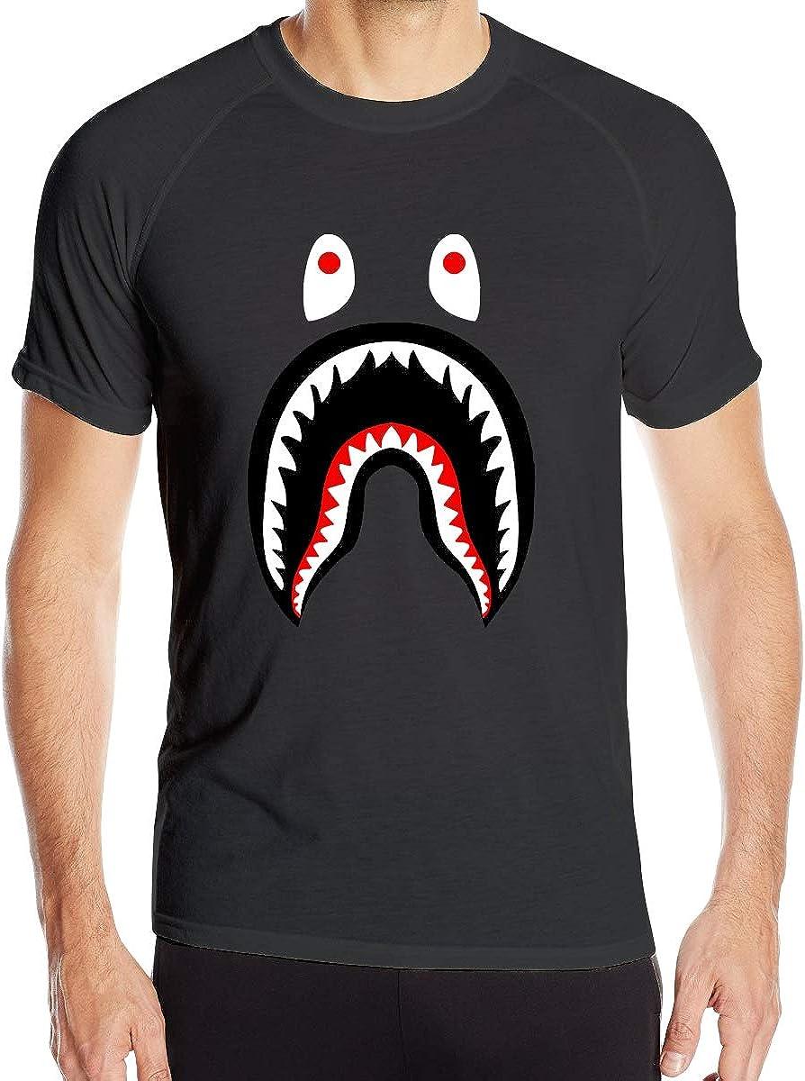 Big Mouth Shark Ba-Pe Mens Quick-Drying Tee Loose-Fit T-Shirt