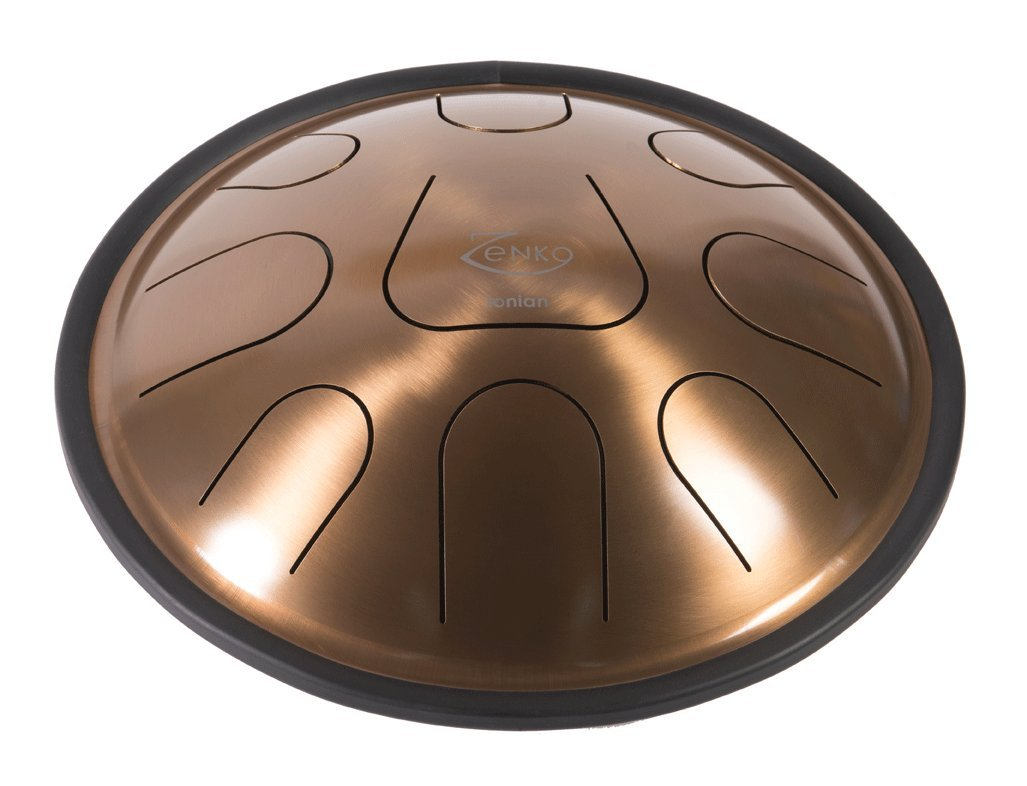 ZENKO IONIAN - Steel Tongue Drum - 9 tones - Intuitive musical instrument - Deluxe gig bag, support and mallets included