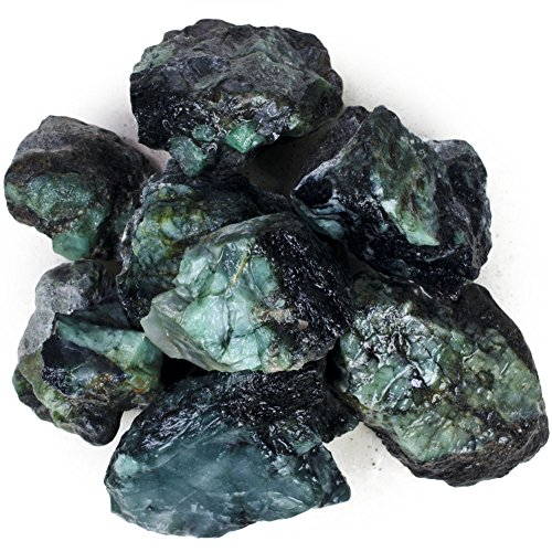 Hypnotic Gems Materials: 1/2 lb High Grade Emerald Bulk Rough Stones from Brazil - Unsearched assorted sizes from 0.25