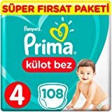 Prima Pants Külot Bebek Bezi 4 Beden Maxi Süper Fırsat Paketi 108 Adet