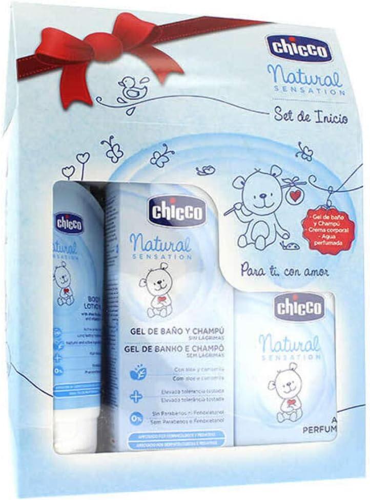 Chicco Natural Sensation - Set de inicio: gel + champú + agua perfumada