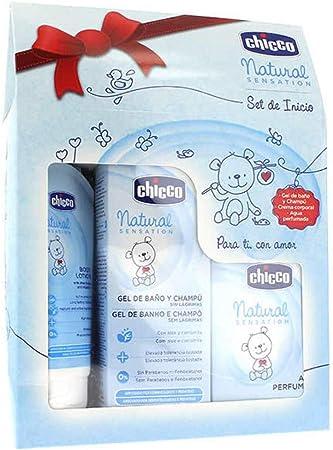 Gel de Baño y Champú 200 ml, Crema Corporal 150 ml y Agua Perfumada 100 ml,Deja el pelo y la piel su