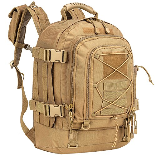 WolfWarriorX Military Tactical Assault Backpack 3-Day Expandable Backpack Waterproof Molle Rucksack For The Outdoors, Camping, Hiking & Trekking (Coyote)