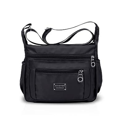 ef8400bd6f NICOLE DORIS Women Handbags Shoulder Bag Crossbody Bag Hobo Tote Satchel Purse  Large Capacity Waterproof Nylon Black